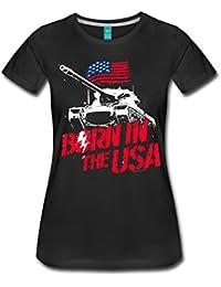 Herren Unisex Kurzarm T-Shirt USA Flagge flag Amerika Nordamerika america