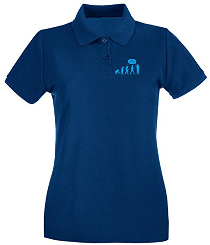Cotton Island - Polo pour femme EVO0040 Leave Me Alone Maglietta Bleu Navy