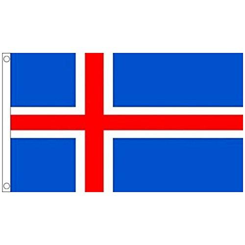 NiceButy 1Pcs 90* 150cm Flagge Nationaler Dekorationen Internationalen Flaggen-Spiel von Ländern für Vereine Sportler, Feier der Vorgang-Bär Flag Nationaler # Island #