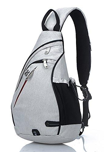 FREEMASTER Sling Bag Rucksack Schultertasche Crossbody Sling Umhängetasche Daypack Für Wandern, Radfahren, Bergsteigen, Reisen,Schule Weiß
