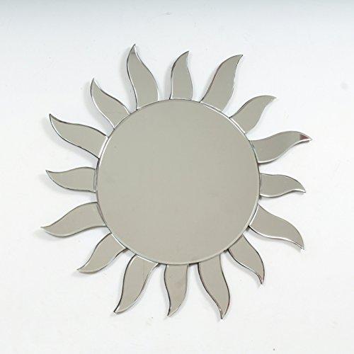 "Quality Glass Glass And MDF Decorative Wall Mirror (26""x26"", Silver, Asymmetric Shape) - B0798NG1TZ"