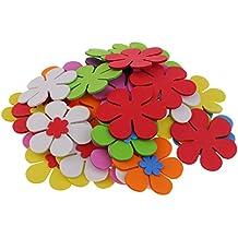 MagiDeal 40 Unidades Pegatinas Colores Mezclados Flores Espuma 6 Cm Niños Diy Decoraciones Artesanías