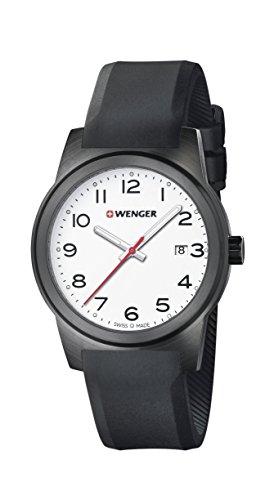 WENGER - 01.0441.150 - Montre Homme - Quartz - Analogique - Bracelet Silicone noir