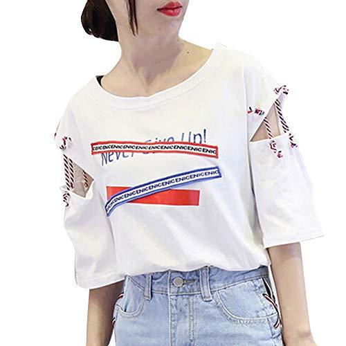 da83b710c TOPKEAL T Shirts Ladies Short Sleeve Vest Letter Print Bandage Tank Summer  Blouses Women Tops Tees