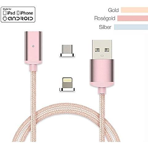 Tech Berg USB magnetico cavo di ricarica 1m–Original–Certificato Apple MFi Lightning cavo dati per iPhone 66S 6Plus se 55S 5C e iPad Mini 4Air 2iPod–di alta qualità con LED Indicatore di stato come MagSafe