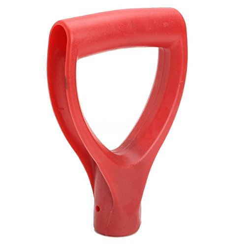 Hilai Pala de plástico mango en D de polietileno para jardín o piscina, para eliminar la nieve, pala de horquilla