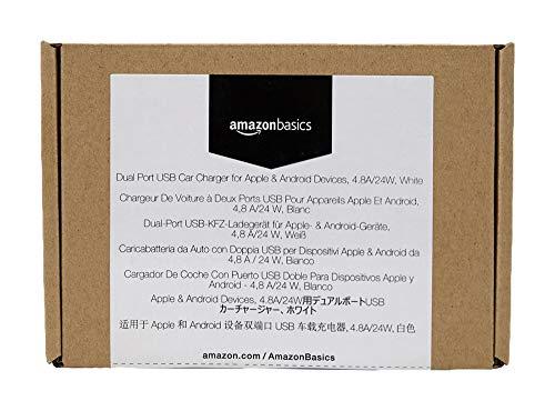 adegerät für Apple- & Android-Geräte, USB-Anschluss: 2 Eingänge, 4,8Ampere / 24W, Weiß ()
