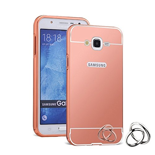 SCHOFIC Premium Fancy Luxury Mirror Effect Acrylic [Back Panel] with Metal [Aluminium] Bumper Back Case Cover [Pouch] for Samsung GALAXY Grand Duos I9080/9082 -Rose Gold  available at amazon for Rs.225
