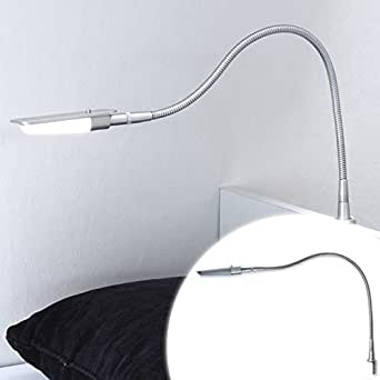 led lampe de lecture liseuse lit lampe bettleu chte interrupteur nuit lumi re chrome poli froid. Black Bedroom Furniture Sets. Home Design Ideas