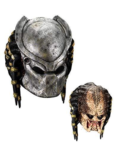 B-Creative Alien v Predator Kostüm Maske, Mens Predator Vollmaske mit GesichtsPlatte (Für Predator-kostüme Erwachsene)