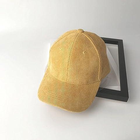 ZHANGYONG*Le printemps l'automne et l'hiver baseball cap plus les femmes de couleur les marées corduroy preppy , caps , jaune réglable
