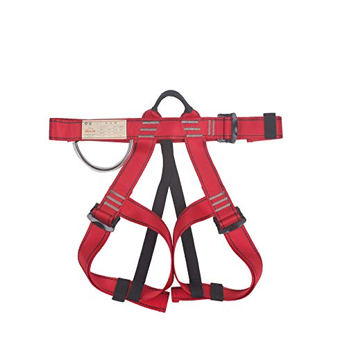Preisvergleich Produktbild Isuper Sport Klettergurt im Freien,  Bergsteigen,  sicherer Sitz des Riemens,  medizinisches Roca Professionelles Klettern,  rot
