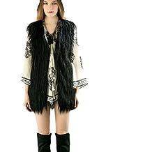 Tongshi Escudo del chaleco sin mangas de la manera larga de las mujeres prendas de vestir exteriores de la chaqueta de pelo largo