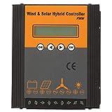 Regolatore di carica del vento solare ibrido 24V, regolatore di carica solare, energia eolica nominale 400/500 / 600W solare 200W, PCB incorporato, con display LCD, regolatore di carica PWM(A)