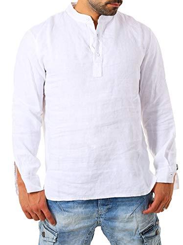 Young & Rich Herren Leinen Langarm Shirt mit Knopfleiste Henley Tunika Hemd Regular fit 100{edfa4b77b4c38b0f97c9a43cbda3f50e62f356e90c678421c1d7bc9bba325fa7} Leinen T3168, Grösse:XL, Farbe:Weiß