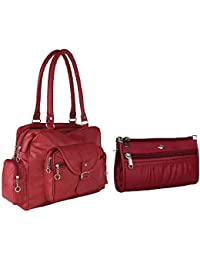 Bizarre Vogue Stylish Women Handbag with Wallet Combo (Maroon,BV1188)