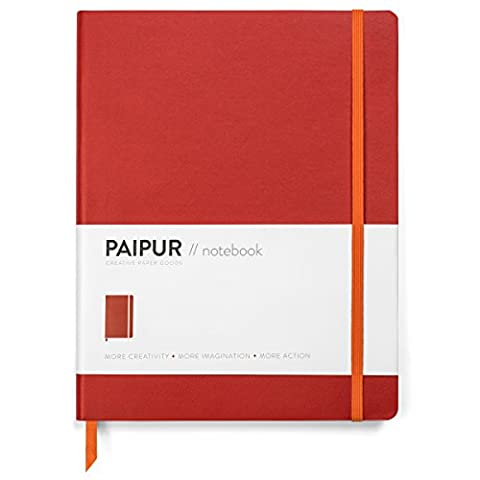 Premium Notebook by PAIPUR - Thick Luxe Paper - Large 25cm x 19cm - Dotted Grid and Ruled Journal - Best Gift - for All Pens with No Bleed - Classic Style Softcover in 4 Colours