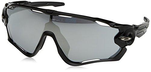 Oakley Herren 0Oo Jawbreaker 929019 0 Sonnenbrille, Schwarz (Polished Black/Chromeiridiumvented), 0