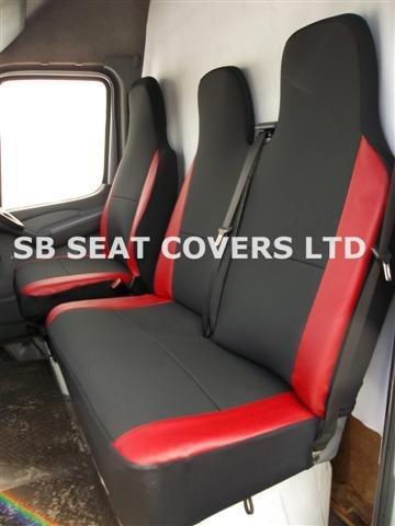 iveco-daily-cubiertas-de-asiento-para-furgoneta-2008-modelo-antracita-rojo-ribete-en-piel-de-imitaci