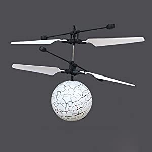 Ruikey RC Flying Ball Cracked Planet Flashing LED Light Flying Ball RC Infrared Induction Helicopter Built-in Shinning LED Lighting for Kids, Teenagers from Ruikey