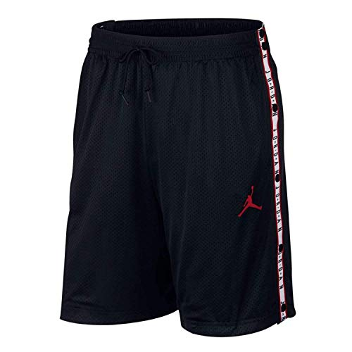 Nike Herren Air Jordan Tear-Away Short kurz, Schwarz/Rot (Black/Gym red), M (Jordan Nike Basketball Shorts)