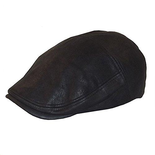 Chapeau-tendance - Casquette façon Vieux Cuir Noir - 57 - Homme