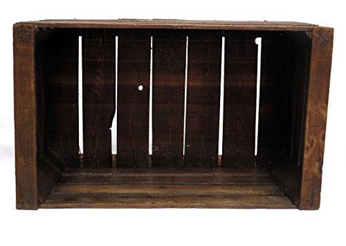 Restaurierte Vintage Buche Truhe Walnuss braune Farbe- Möbel, Regale, Bücherregale - alte Obstboxen - Holzkisten - Braunes Bücherregal