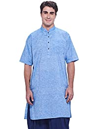 Manyavar Men's Half Sleeve Cotton Kurta (ML11799)