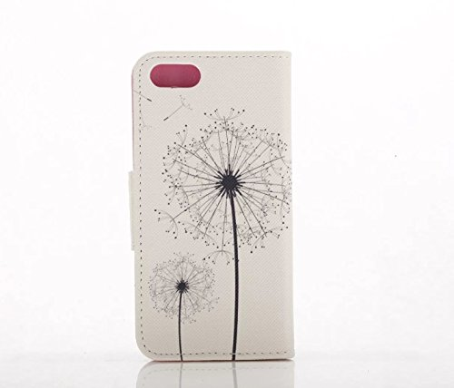 iPhone 7Coque, PT® iPhone 7Housse en cuir, iPhone 7Coque avec écran de 11,9cm, étui portefeuille pour iPhone 7, belle fleur à motif cuir PU Fonction de Support couvertures de coques de protection  Flower8