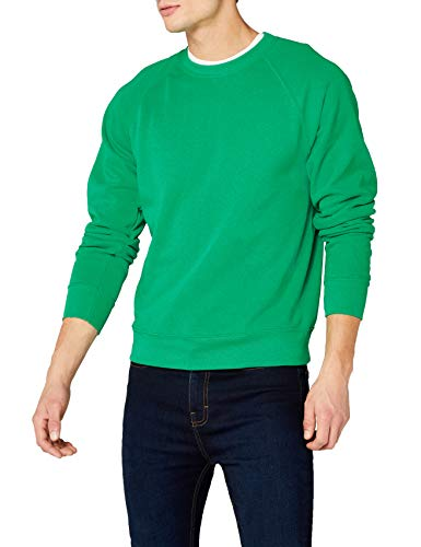 Fruit of the Loom Herren Sweatshirt Gr. L (Herstellergröße: Large) Grün - Kelly Green -