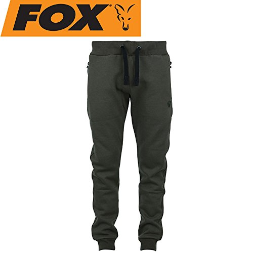 Fox Green Black Joggers - Angelhose, Jogginghose für Angler, Hose zum Angeln, Anglerhose, Größe:XXL