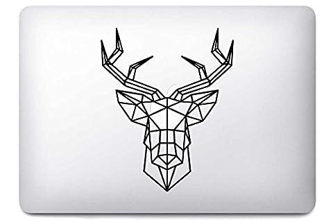 Origami Deer Cerf par i-Sticker : Stickers autocollant MacBook Pro Air décoration ordinateur portable Mac Apple