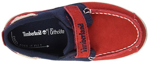 Timberland Unisex Baby Dover Bay H&l Boathaute Red with Sapphire Lauflernschuhe Mehrfarbig (Haute Red with Sapphire)