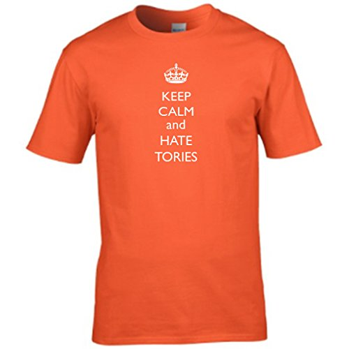 KEEP CALM AND DONÕT Abstimmung TORY Herren t shirt Orange