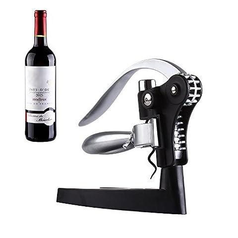 Tire-bouchon, GWCLEO Ouvre-bouteille de vin Bar Craft Connoisseur Deluxe Tire-bouchon et coupe-feu