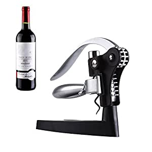 Corkscrew,GWCLEO Wine Bottle Opener Bar Craft Connoisseur Deluxe Lever-Arm Corkscrew And Foil Cutter Gift Set