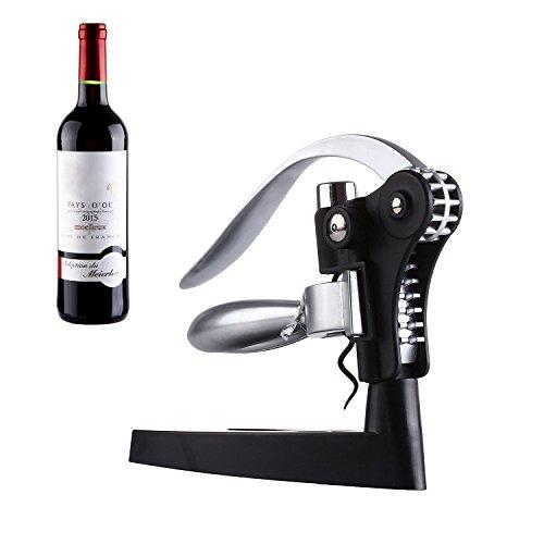 Korkenzieher, GWCLEO Wein-Flaschen-Öffner-Stab-Fertigkeit-Kenner Deluxe Lever-Arm Korkenzieher-und Folien-Schneider-Geschenk-Satz