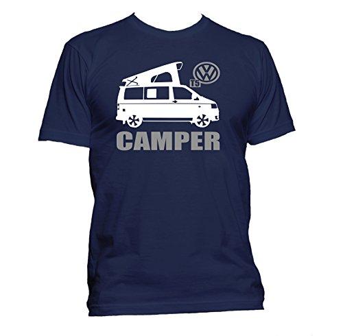 Vw-T5-Campervan-poptop-Transporter-Ringspun-Crewneck-Mens-T-shirt