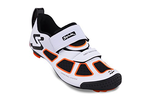 Spiuk Trivium Triathlon Zapatilla, Unisex Adulto, Blanco/Naranja / Negro, 48