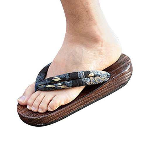 Damen Sommer Keilabsatz Schuhe Pantoffel Sandale (EU 35, Schwarz) CHNHIRA
