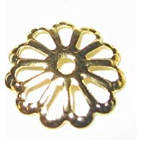 200pezzi 7mm Placcato Oro Daisy Flower Bead End Caps 7mm–A5610