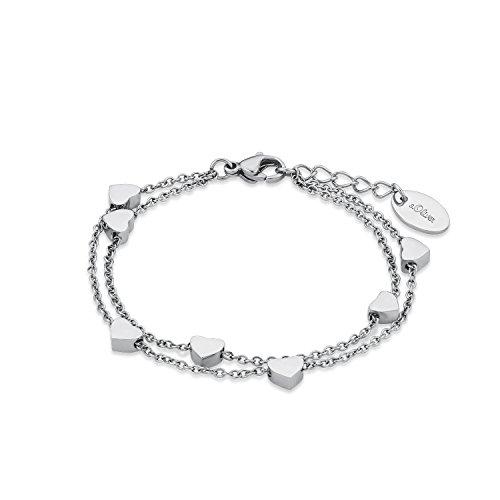 S.Oliver Kinder Armband Herzen Edelstahl 14+2 cm