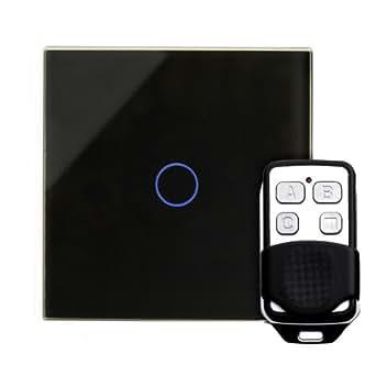 retrotouch rts2040 designer lichtschalter 1 fach touch doppelschaltung zwischenschaltung mit. Black Bedroom Furniture Sets. Home Design Ideas