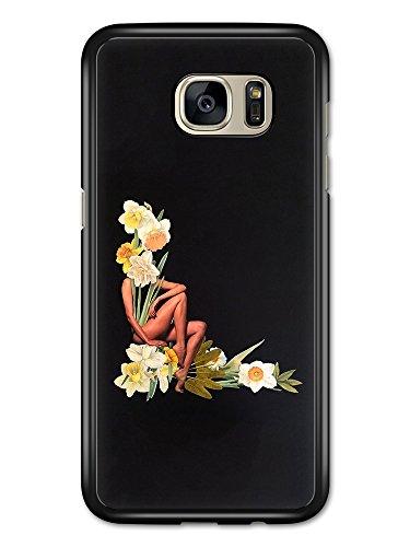 Micro Gorilla L Shaped Beautiful Narcissus Daffodils Flowers and Woman on Black hülle für Samsung Galaxy S7 Edge Womens Daffodil