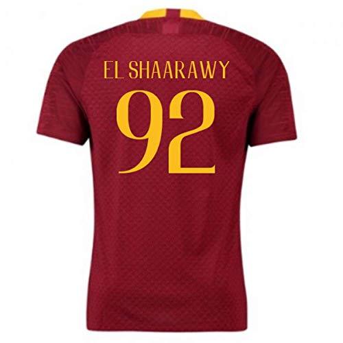 2018-2019 Roma Authentic Vapor Match Home Nike Football Soccer T-Shirt Trikot (Stephan EL Shaarawy 92) (El Shaarawy Trikot)