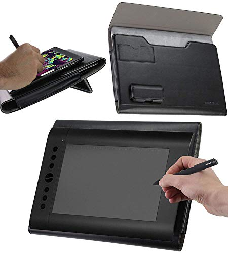 Broonel Custodia per Tablet Grafica in Pelle con Supporto Ergonomico Integrato Compatibile con UGEE M708 Graphics Tablet