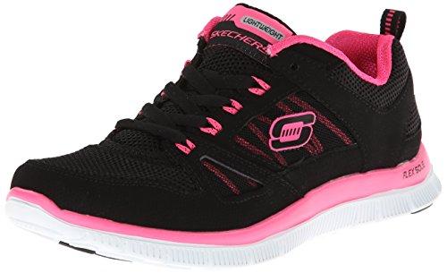 skechers-womens-flex-appeal-spring-fever-trainers-black-hot-pink-40-7-uk