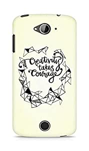 AMEZ creativity takes courage Back Cover For Acer Liquid Z530