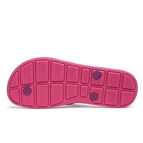 QANSI Infradito Donna Sandali Donna Pantofole da Bagno Donna Buon qualità Super Comodo Gomma Naturale Multicolori Economico Antifungo Antimuffa Idrorepellente Viola