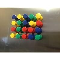 20magnetico puntine colorate (Rosso, Giallo, Blu, Verde) per frigorifero, bacheca,